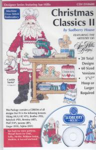 Sudberry Designs D10600 Christmas Classics II Multi-Formatted Cross Stitch Embroidery CD