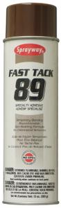 Sprayway SW089 Fast Tack Specialty Temporary Adhesive Spray A089, 20oz Can, Case of 24 Cans