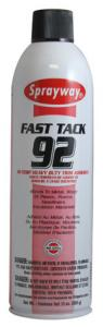 Sprayway SW092 Fast Tack Hi-Temp Heavy Duty Trim Adhesive Spray A92, 20oz Cans 12/Case