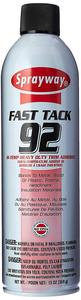 31986: Sprayway SW092 Fast Tack Hi-Temp Heavy Duty Trim Adhesive Spray A92, 20oz Cans 24/Case