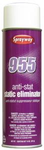 Sprayway SW955 A955 Anti-Stat, Static Eliminator, 14oz Spray Cans, 12/Case
