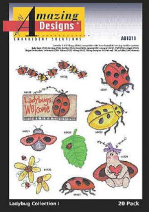 Amazing Designs / Great Notions 1311 Ladybug Collection Multi-Formatted CD
