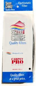 Carpet Pro 6.317 Elec Secondary Filter, Carpet Pro CPU1 Vacuum Cleaner