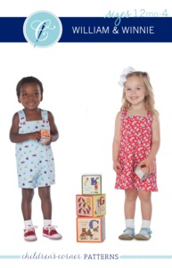Children's Corner CC274 William & Winnie Romper Jumper Sewing Pattern Sz12mo-4Yr