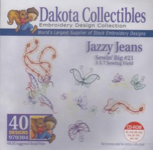 Dakota Collectibles 970304 Jazzy Jeans 5X7 Sewing Big 21 Designs CD
