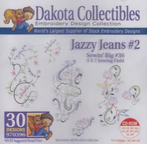 Dakota Collectibles 970396 Jazzy Jeans 5X7 Sewing Big 36 Designs CD