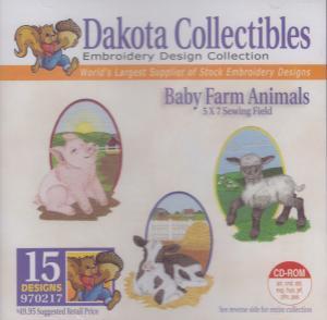 Dakota Collectibles 970217 Baby Farm Animals Embroidery Designs CD