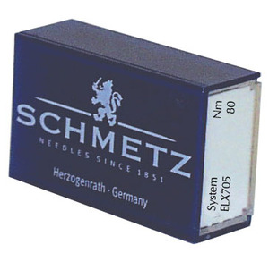 Schmetz ELx705 Box of 100 Serger Needles, Choose Size 80/12 or 90/14, Both Regular Nickle Finish, Not Chrome CF