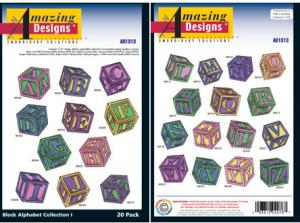 Amazing Designs / Great Notions 1313 Block Alphabet Multi-Formatted CD