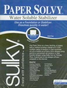 "Sulky 409-02 Paper Solvy 12 of  11x8.5"" Water Soluble Transfer Stabilizer Sheets, Transfer patterns by ink-jet and bubble-jet printers and copiers"