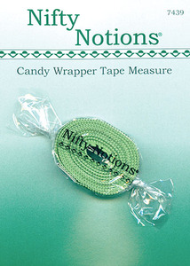 """Nifty Notions 7439 60"""" Inch Long Candy Wrapper Tape Measure (Centimeters on the other Side)"""