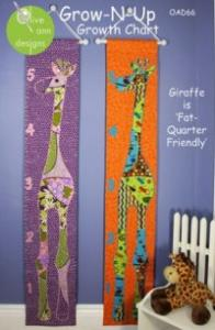 Olive Ann Designs OAD66  Grow-n-Up (Growing Up Growth Chart) Sewing Pattern