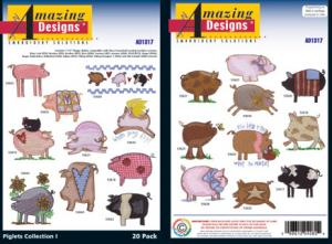 Amazing Designs / Great Notions 1317 Piglets 1 Multi-Formatted CD