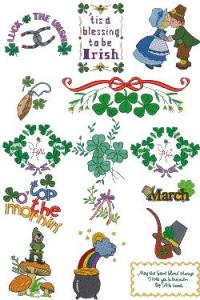 Down Home Dreams 160 The Emerald Isle Embroidery Designs Floppy Disk
