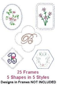 Down Home Dreams 182 Venetian Frames 1 Embroidery Designs Floppy Disk