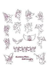 Down Home Dreams 186 Angelic Redwork Embroidery Designs Floppy Disk