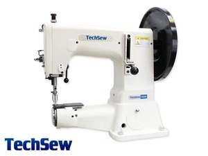 """Techsew 4100 9"""" Cylinder Heavy Duty Compound Feed Leather Stitcher, FREE Table & Servo Motor, 4/5 HP, Triple Feed Walking Foot, 7/8"""" Sewing Capacity"""