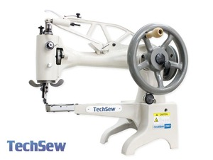 "Techsew 2900 12""Arm 1 4/32""Cylinder Bed Shoe Repair, Leather Patch Machine, Power Stand, Servo Motor, 360 Degree Directional Top Feed"