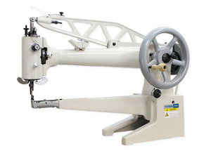 """Techsew, 2900L, 18"""" Cylinder bed,  Long Arm, shoe repair, Leather Patch, sewing Machine, power stand, Servo Motor, Large Bobbin, 360 Degree Rotation, 1/4"""" Sewing Capacity, 13/32""""FootLift, 3.5 SPI, 500 SPM, Hand Crank"""