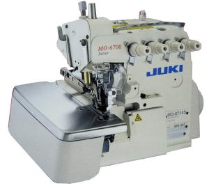 Juki MO6904S-OE4-40H 3-Thread Overlock Serger, 8500SPM, Standard 4mm Stitch Width, 4:1Diff.Feed, Submerged Platform, Servo Motor Power Stand Assembled