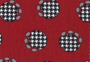 Fabric Finders  #1100 Houndstooth On Crimsom Print Twill 15 Yd Bolt 9.34 A Yd100% Cotton 60""