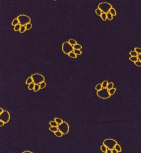 32948: Fabric Finders 1102 Paw Prints on Purple Twill 15Yd Bolt @9.34/Yd Cotton 60""