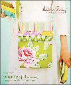 "Heather Bailey 934269 Smarty Girl Book Bag Sewing Pattern 10""Wx13""Hx2""D"