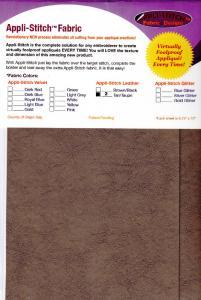 Floriani R-L22 Appli Stitch Leather 2 Per Pack, 6.75x12'' Sheets Brown