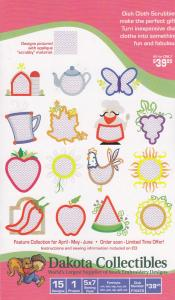 "Dakota Collectibles F70470 Dish Cloth Scrubbies 5x7"" Embroidery Designs on Multi Format CD"