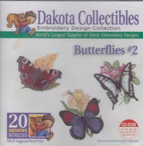 Dakota Collectibles 970255 Butterflies 2 Designs  Multi-Formatted CD
