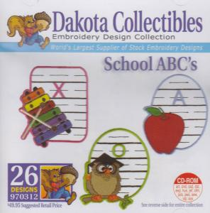 Dakota Collectibles 970312 School ABC's  Designs  Multi-Formatted CD