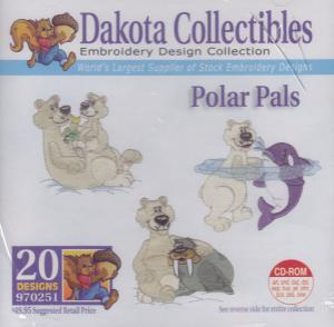 Dakota Collectibles 970251 Polar Bears Embroidery Designs Multi-Format CD
