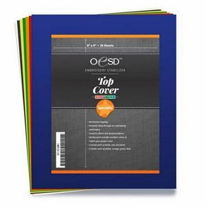 """33136: OESD HBTCV-10 Top Cover Permanent Topping Variety Pack, 20 Sheets, 8x9"""" Cut Away"""