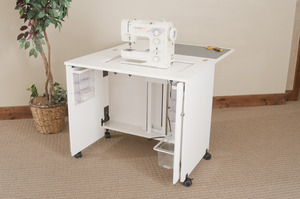 "Fashion Cabinets 7500 Sewing Machine Cabinet 36.5""x23.25x30 3/8""H, Electric Lift"