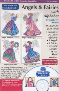 Sudberry Designs D10800 Angels And Fairies Multi-Format Embroidery CD