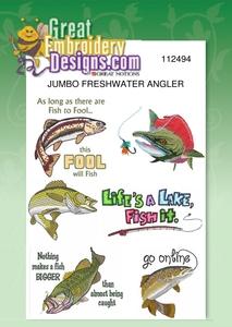 Great Notions Jumbo Freshwater Angler Designs 5X7 Hoop Multi-Formatted CD