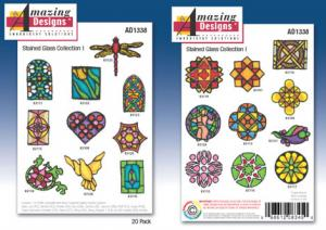 Amazing Designs / Great Notions 1338 Stained Glass Multi-Formatted CD