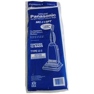 Panasonic PAPER BAG, PANA TYPE for U3 UPRIGHT Vacuum Cleaner, 12PK Replacement Bag 12 Pack