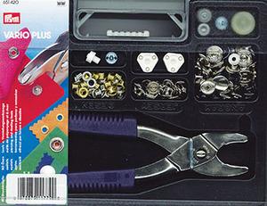 Dritz D651420 Vario Plus Snap & Eyelet Kit  Approximately 94 Pieces