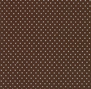 """Fabric Finders #1259 Chocolate With White Dots  Print 15 Yd Bolt 9.34 A Yd 100% Cotton 60"""""""