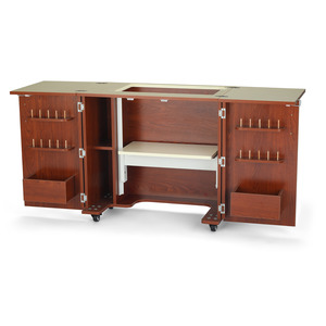 33415: Kangaroo Kabinets by Arrow K82__ Bandicoot II Sewing Machine Cabinet Teak or Ash White
