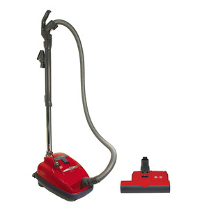 "SEBO AIRBELT K3 Air Belt Red Canister Vacuum Cleaner +10Yr Parts & Labor Wnty* 1250W 10A 120CFM 110""WaterLift 63dB ParquetTool LifeBelt 12Lb 26'Range"