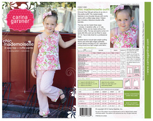 Carina Gardner CG007 Chic Mademoiselle Patter sz 2T-10Yrs
