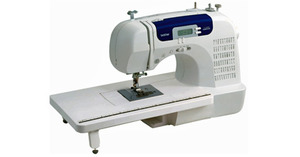 30697: Brother CS6000i Factory Serviced Computer Sewing Machine RCS6000i 60 Stitch,Ext Table,Walk Foot,7Feet,7BH,StartStop,NeedleUp,SpeedLimit,Threader,Cover