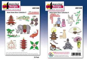 Amazing Designs 1348 Asian Home Decor II Embroidery cd