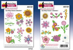 Amazing Designs Great Notions 1357 Sew Many Flowers Multi-Formatted CD