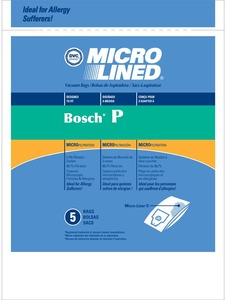 Bosch Bor-1486 Paper Bag, Micro Lined   Type P Bosch Dvc 5Pk