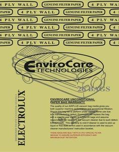 Electrolux Replacement Exr-1410 Paper Bag, Lux Tank 4Ply Env 26Pk