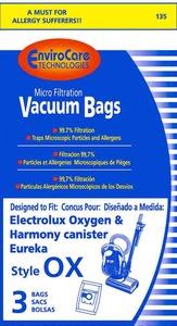 Electrolux Replacement Exr-1445 Paper Bag, Lux Style S   Eureka Ox Micro Env 4 Pk