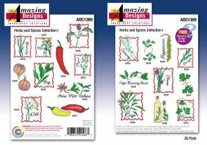 Amazing Designs / Great Notions 1369 Herbs And Spices Collection I Multi-Formatted CD